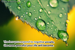 How To Deal With Negative People: The less you respond to negative ...