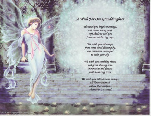 GOD MADE GRANDDAUGHTER Poem Angel Print Personalized 9
