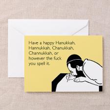 Happy Hanukkah Greeting Card for