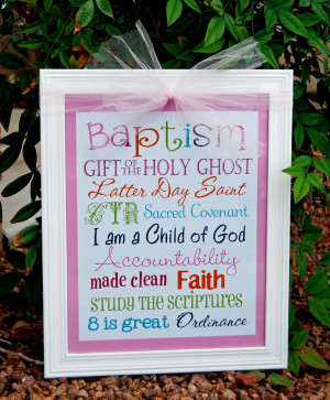 Lds Baptism Quotes Baptism subway art