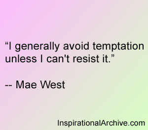 Avoiding Temptation Quotes