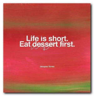 dessert, funny, green, quote, red, saying