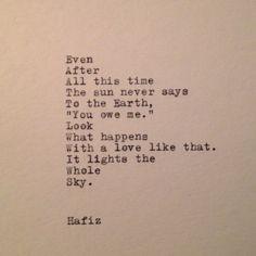 Love Quotes On A Typewriter, Quotes Typewriter, Happy Quotes, Hafiz ...