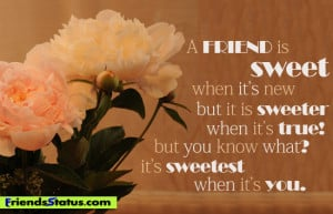 True Friendship Quotes To Share On Facebook ~ True Friend Quotes on ...