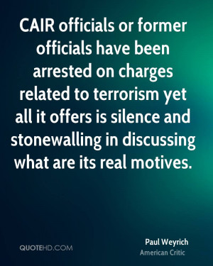CAIR officials or former officials have been arrested on charges ...