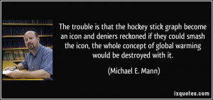 is that the hockey stick graph become an icon and deniers reckoned ...