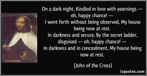 Dark Love Quotes On a dark night,