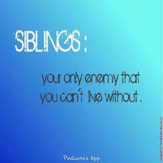 siblings sayings