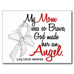Angel 2 Mom Lung Cancer Postcard