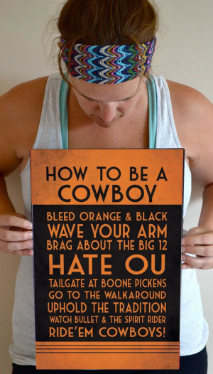 OSU Art Print OSU Cowboys Quote Poster Sign by SmartyPantsStudio, $24 ...