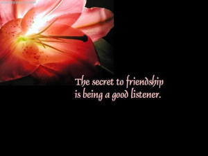 The Secret To Friendship Is Being A Good Listener