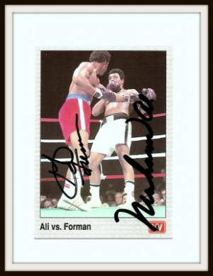 1991 AW Sports Signed Muhammad Ali & George Foreman Sports Card
