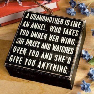 Grandmother Is Like An Angel. Who Takes You Under Her Wing, She ...