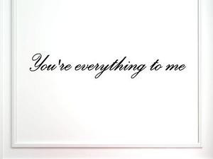 Youre-everything-to-me-Vinyl-Quote-Me-Wall-Art-Decal-1017