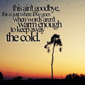Goodbye Love Quotes This is just where love goes
