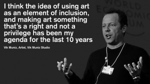 Vik Muniz, Artist, at the World Economic Forum Annual Meeting 2013 in ...