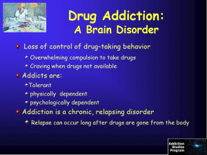 """As a chronic medical condition, or """"brain disorder,"""" addiction has ..."""
