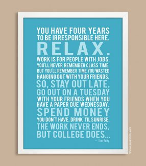 ... Quotes / Lyrics Prints :: 11x14 Personalized Quote Print in Aqua, Tom