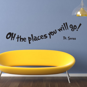 Details about OH THE PLACES YOU WILL GO DR SEUSS WALL ART STICKERS ...