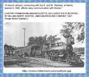 Description: Pictures and text about Saxonville Mills.