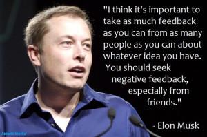 ... negative feedback, especially from friends.