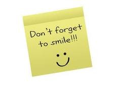 Cute sticky note with a quote that says don't forget to smile with a ...