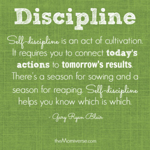 To raise a disciplined child, be a disciplined parent