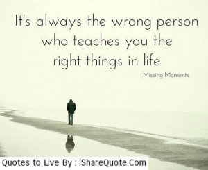 It's always the wrong person…