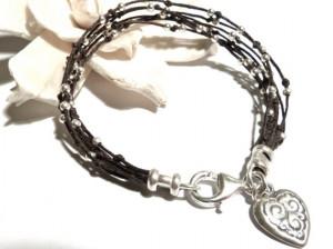 Lucky Number 7 Bracelet Dark Brown Irish Waxed by JewelrybyLeandra, $ ...
