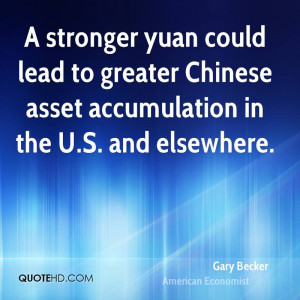 stronger yuan could lead to greater Chinese asset accumulation in ...