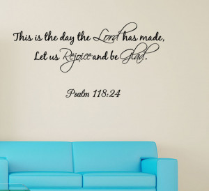 ... -Day-The-Lord-has-made-Wall-quote-Decal-Wall-Sticker-Bible-Verse-new