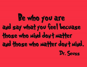 Dr. Seuss Wall Decals - Be Who You Are | Dr. Seuss Wall Art