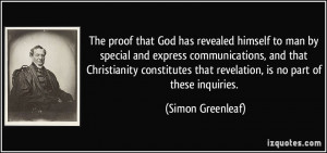 The proof that God has revealed himself to man by special and express ...