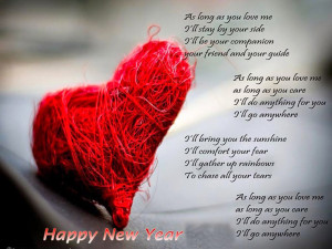 Happy New Year to My Love Poem Wallpapers