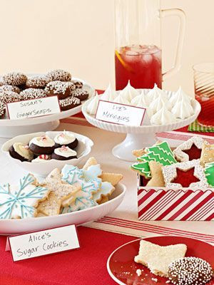 Display ideas for a Cookie Exchange #Party Stuffs #Party Accessories # ...