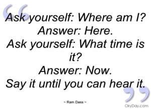 ask yourself ram dass