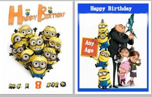 Insane image in printable minion birthday card