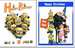 Accomplished image intended for printable minion birthday card