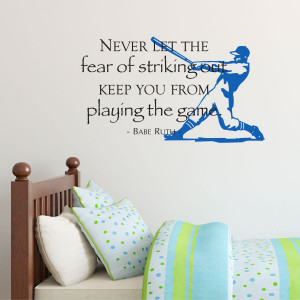 Fear of Striking Out Papyrus Wall Quotes™ Decal
