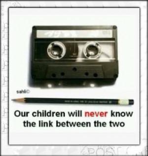Cassette bandje icm een potlood...