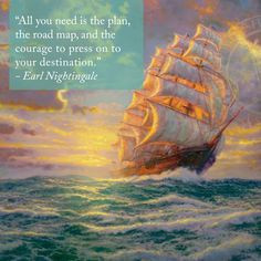 "... quotes #art ""Courageous Voyage"" – Thomas Kinkade – 2011 More"