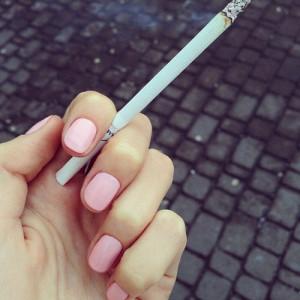 pretty girl uploads chic instagram cigarette rosy