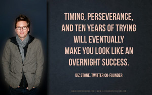 ... make you look like an overnight success. Biz Stone Twitter co-founder