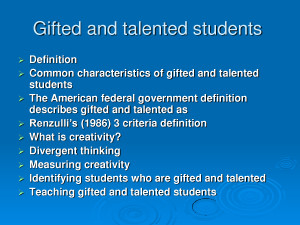 Gifted and talented students by dfhdhdhdhjr