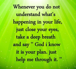 Its all God's Plan to help us in Life