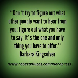 Inspiration for Writing a Book – Quote by Barbara Kingsolver