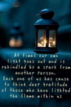 Albert Schweitzer on gratitude.