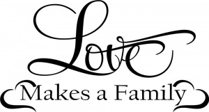 Love makes a family Home Decor vinyl wall decal quote sticker ...