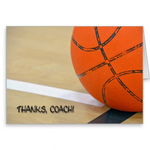 Thank You To Basketball Coach Cards & More
