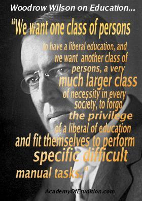 quote woodrow wilson on education